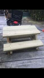Hand made kids bench