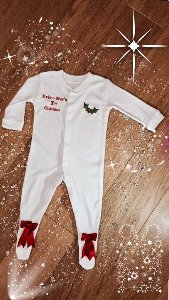 Personalised baby wear, children's bouquets, glitter frames.
