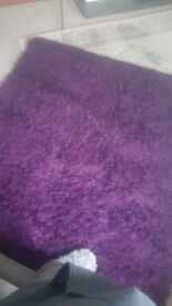 Purple Dunelm Rug - Free to Collect