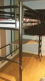 Gun metal high sleeper loft bed