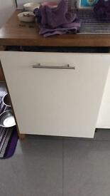 Fully integrated smeg dishwasher