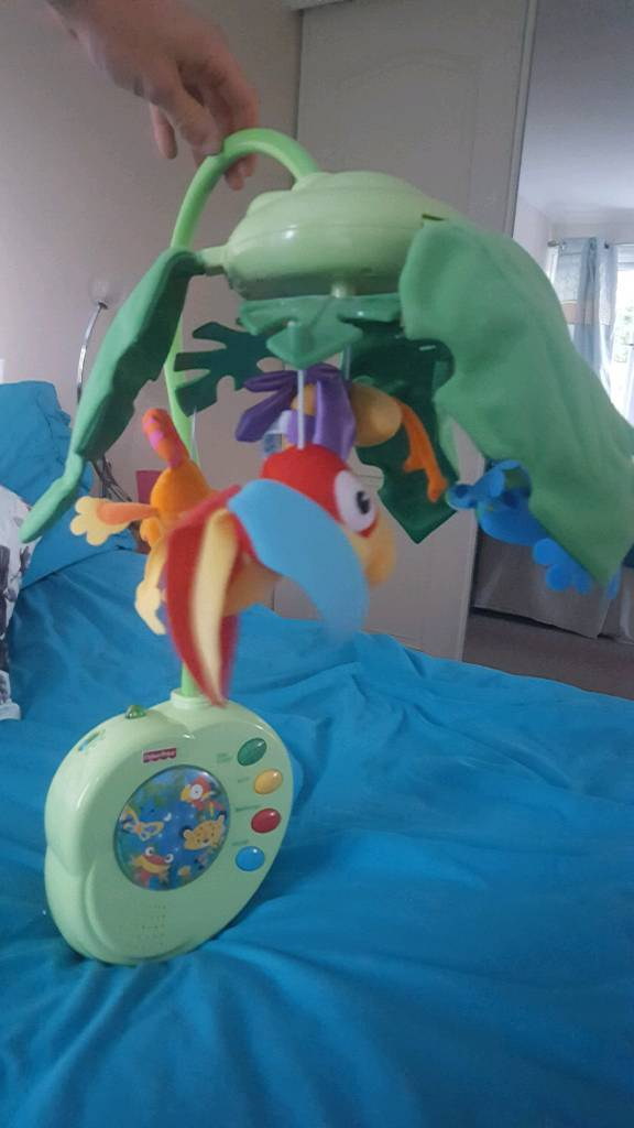 Fisherprice cot mobile with remote