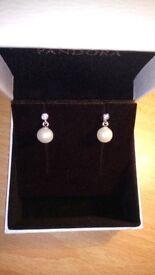 Pandora Pearl Elegant Luminous Earrings