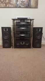 Kenwood Hi-Fi System and TV Stand