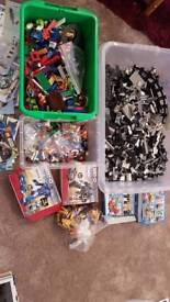 About 5.7 kg of Lego and lots of various instructions