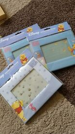 Winnie the Pooh padded photo frame x 3 Brand New