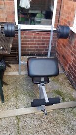 Argos Pro Fitness Bench with Weights