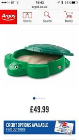 Little Tykes Turtle sand box with lid