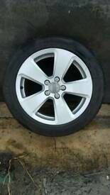 "17"" genuine audi a3 2015 replacement alloy wheel"