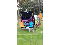 Fiat doblo with bootjump style box in the boot