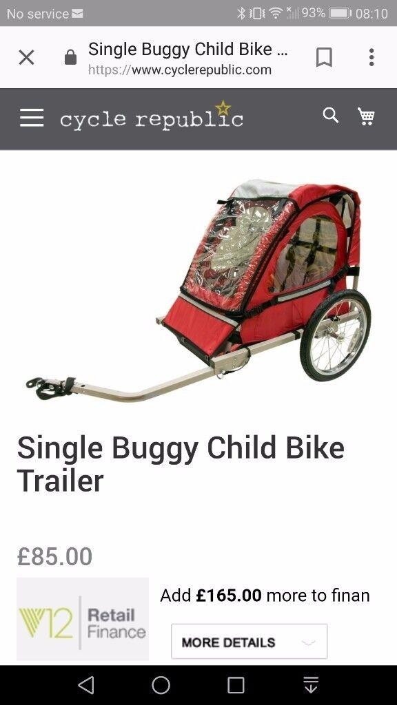 Children's bike trailer