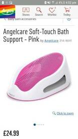 Pink angel care baby bath support