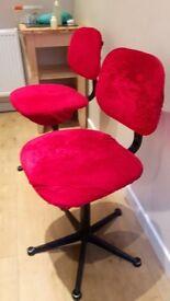 Computer Swivel chair red velvet cover