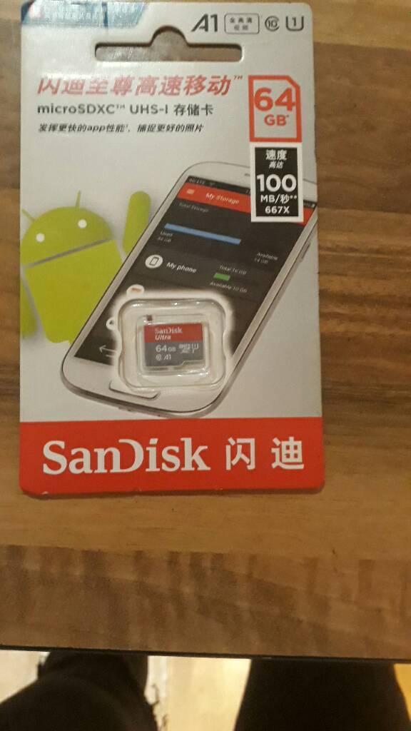 Micro sdxc SanDisk 64gb