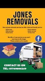 Jones removals services