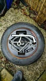 Fiat panda wheel tyre, tools