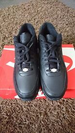 Brand New Never Worn Triple Black Leather Air Max 90 UK 8 with box. £50 ONO.