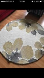 Stunning Circular Next Rug in Ochre and Beige