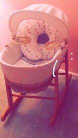 Baby Moses basket in lovely condition