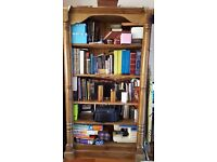 Solid Stained Pine Handmade Freestanding BookShelf Unit