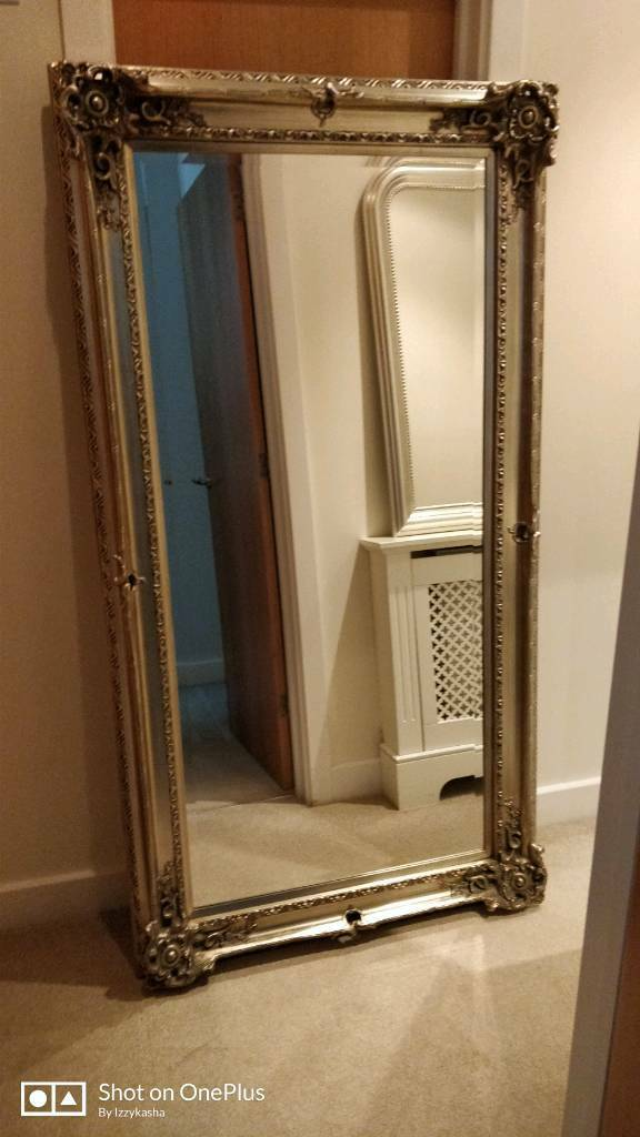 Large Vintage Floor Mirror From Next