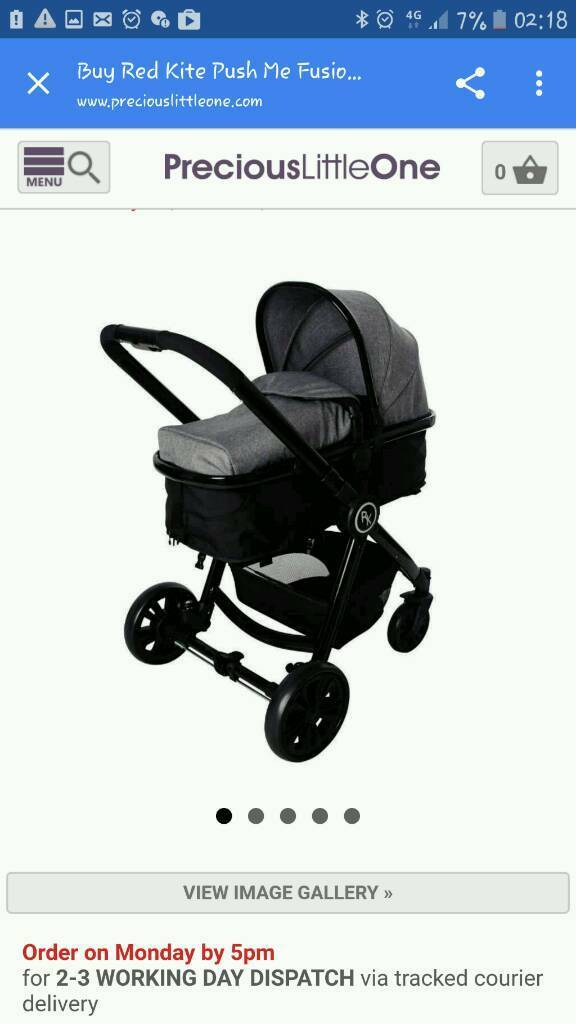 Redkite grey 3 in 1 travel system