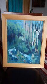 "Original Oil Painting ""Woodland Corner"" by Isobel Dickson - Eden Court Exhibition"