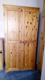 Solid pine wardrobe in great condition