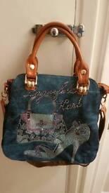 Denin Sparklin Hand Bag