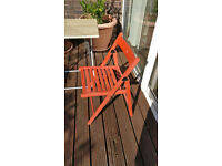 terje folding chair red, gardening chair, + folding table