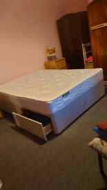 Queen sized double bed