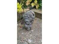 Concrete lion ornaments