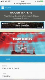 Roger Waters! GOLD CIRCLE Ticket
