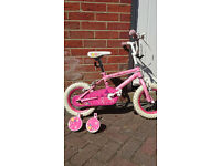 Girls Pink Princess Bike