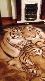Rug, 2 rugs for sale. Wildlife - Tiger, Giraffes. 160cm×200cm.