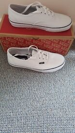 Vans leather shoes brand new