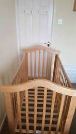 solid beech cot bed