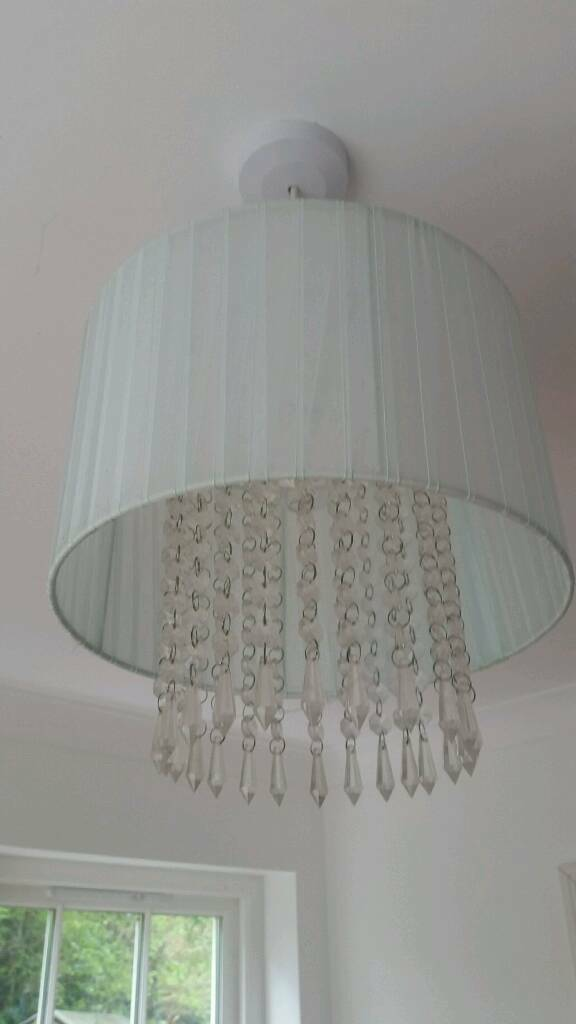 Light blue ceiling light shade in llangadog carmarthenshire gumtree light blue ceiling light shade aloadofball Image collections