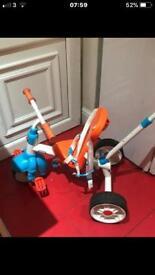 Little tikes push along trike