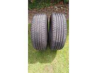2 x Maxtrek Sierra S6 225 55 R18 98V used tyres + 1 FREE!!!