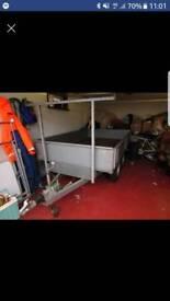 "8' x5' x 14"" 2600kg twin axel braked burniss dropside trailer"