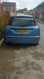Ford Focus 1.4 Petrol 2002 Blue - Immaculate Condition 59,000 miles-Full Service history MOT SEP 17