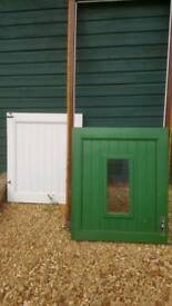Stable style door with frame