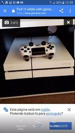 Ps4 white for sale 1t and games
