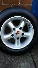 """4x15"""" alloy wheels & tyres"""