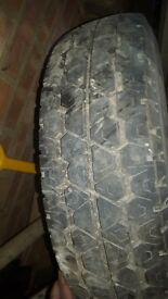 Nearly New Michelin tyre and rim size 195 R14 C £40