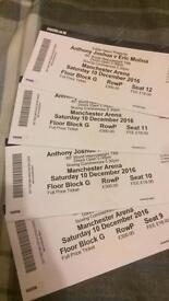 Anthony Joshua - Eric Molina Boxing tickets for sale x4 Block G Row P