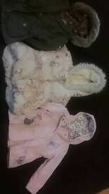Next girls infant coats x3 bundle age 1.5-2 years in excellent condition