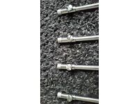4 x stainless steel banksticks brand new 22 cm
