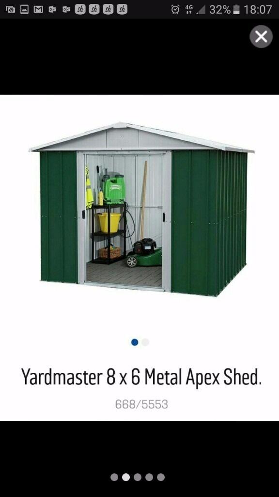 yardmaster garden shed8 x 4 in machen caerphilly gumtree
